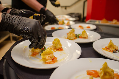 Lobster Agnolotti (with tomato confit and lemon vinaigrette)