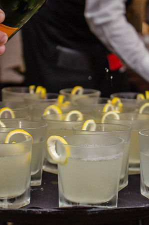 Champagne Ginger Mule (Belvedere Vodak, Domaine de Canton, Ginger Liqueur, house-made ginger syrup, Veuve Clicquot Yellow Label Brut)