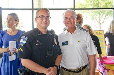 Officer William Burnett, Tony Center