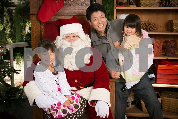 Sat. Dec. 13 Rogers Garden Santa