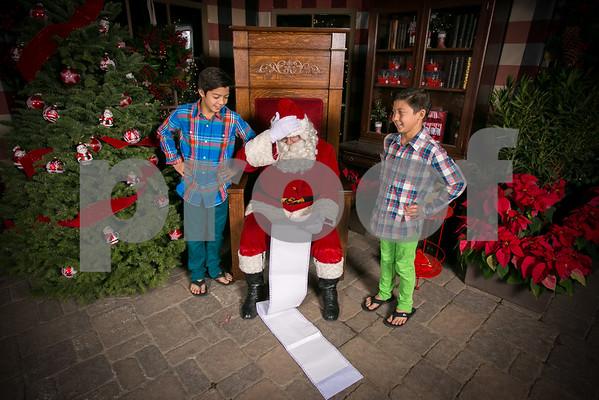 Sat. Dec. 12 2015 Rogers Garden Santa