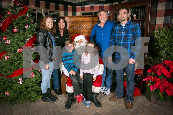 Sat. Dec. 5 2015 Rogers Garden Santa