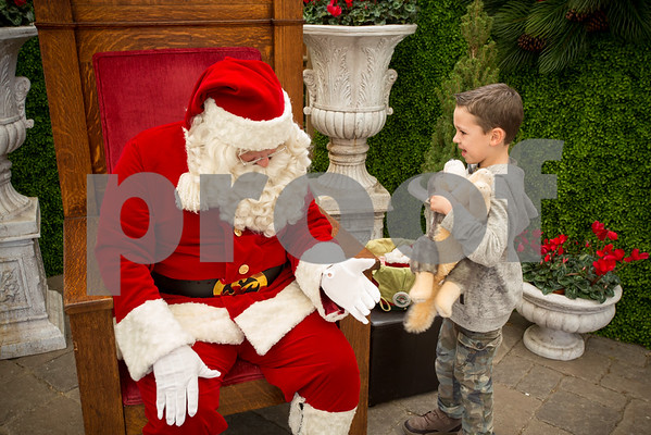Sat Nov.26, 2016 Rogers Garden Santa