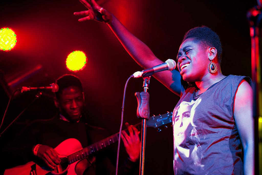 Miss Baby Sol performing at DJ Snuff's night, Expansions. Hootananny's, Brixton.