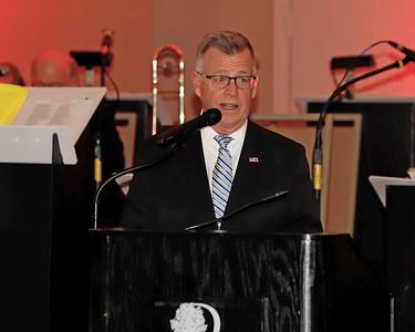KDKA's Larry Richert serves as master of ceremonies for the 2020 BHS Crystal Ball. Seb Foltz/Butler Eagle