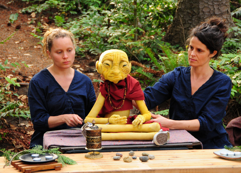 The Monk puppet starts another session.