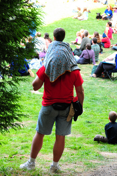 A great thing about this festival is the number of fathers spending time with their children.