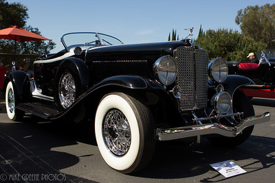 Tony Vincents' 1932 Auburn V-12 boattail speedster.  Greystone Mansion Concours d'Elegance