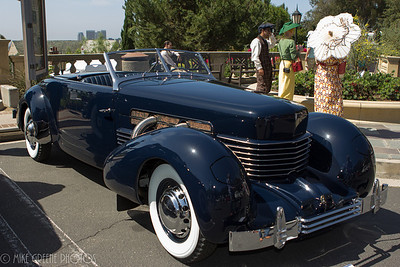 Christopher and Katrina Cord's 1937 Cord 812.  Greystone Mansion Concours d'Elegance