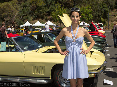 Her dad's corvette, now hers as a wedding gift - it's been in the family since new.