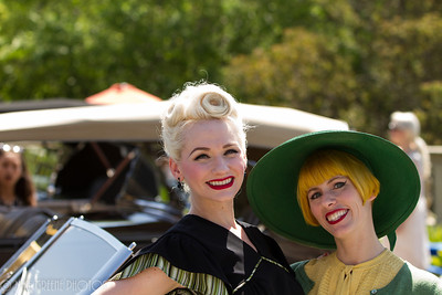 Two of the lovely vintage fashion show models provided the  Concours that bit of something extra .