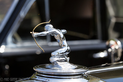 Pierce-Arrow archer hood ornament.  Greystone Mansion Concours d'Elegance