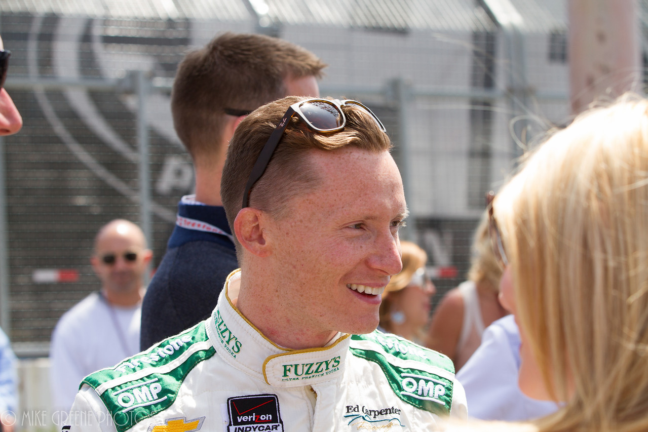 2014 Long Beach Grand Prix winner Mike Conway, just before the race, Sunday April 13 2014.