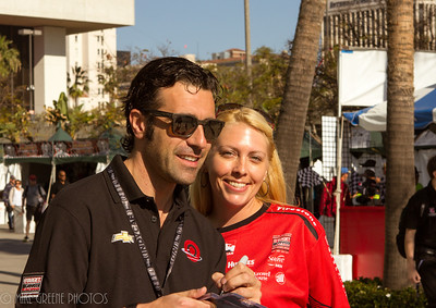 Dario Franchitti was a huge hit at the races, receiving a lot of attention and warm greetings from fans.