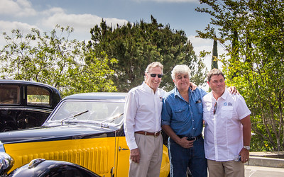(Left to Right):  Bruce Meyer, Jay Leno, Mike Brewer