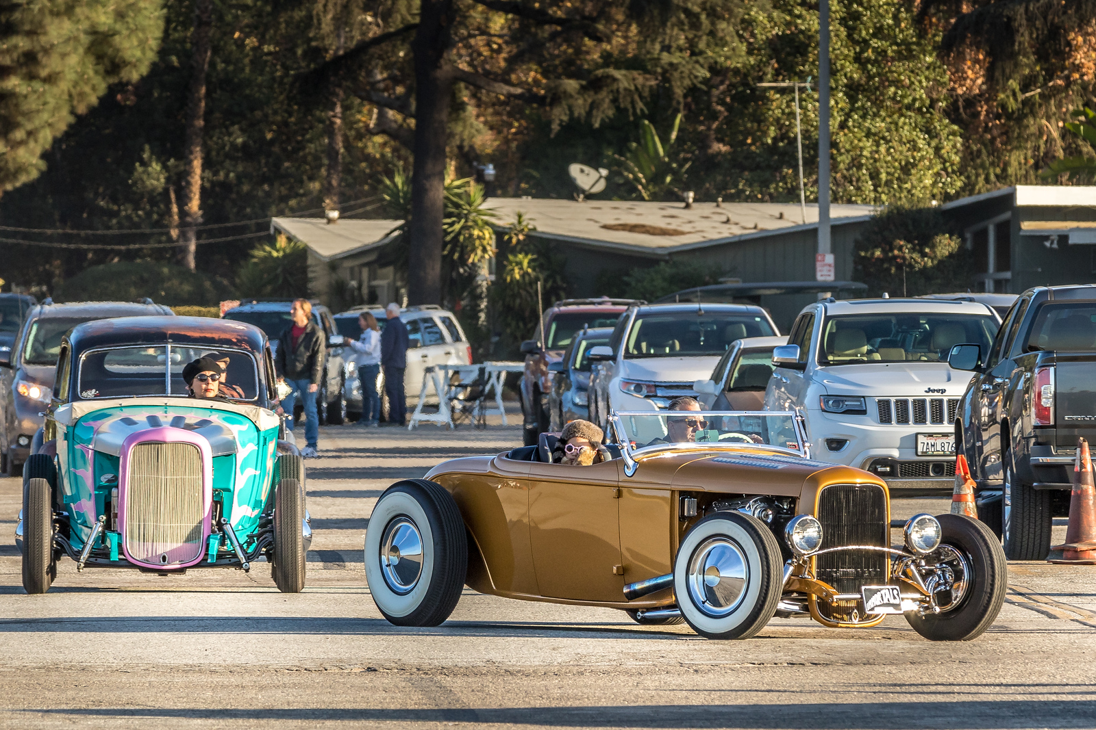 A gathering of antique and classic cars and motorcycles