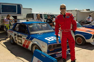 Adam Carolla drove his 1970 Datsun 510, an ex-Bobby Allison car.