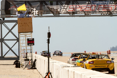The Race at the Base - the MX-5 Cup race proved to be one of the most exciting events on Sunday.