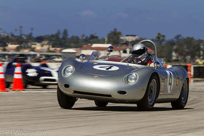 The Group One Race (1952-1959 Sports and Production - Drum Brake) included this fantastic Porsche RS60, owned and driven by Bill Lyon of Newport Beach.