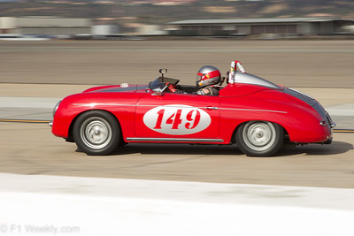 The 1958 Porsche 356A owned and driven by Peter Smith of Del Mar.