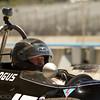 Jeffrey Anderson of San Antonio, Texas awaits the start of sunday's group 3 flag race in his 1969 Brabham BT29.  (Photographer:  Mike Greene)