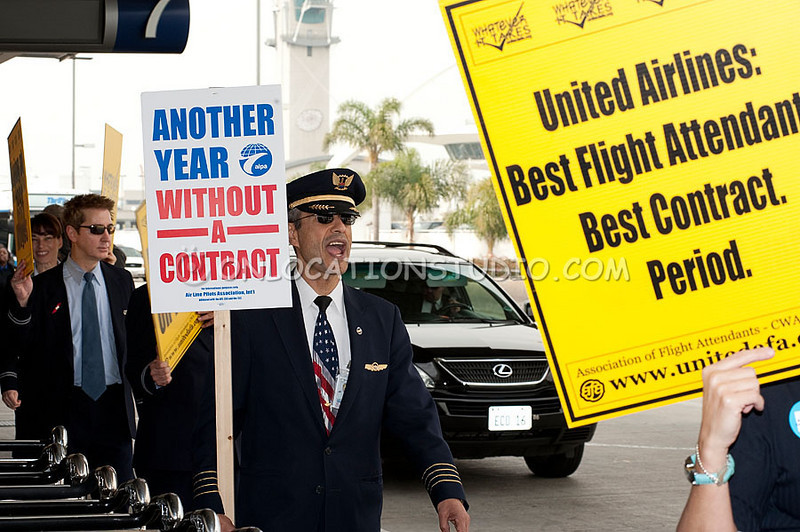 Day of Action at LAX, January 7,2011.