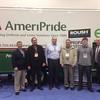 From left: Todd Mouw, ROUSH CleanTech; Scott Davies,<br /> Banny Allison, John Neamtzu and Jimmy Crea, AmeriPride; Tucker Perkins, PERC