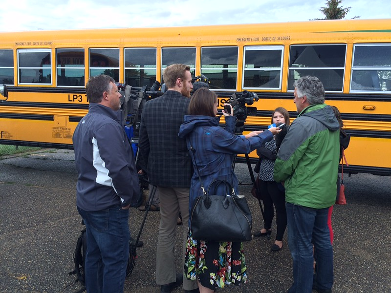 RCSD partnered with LP3 Transportation Solutions to add 89 Blue Bird Vision Propane buses from Legacy Bus Sales in Saskatoon to help reduce the emissions produced by each school bus. These Blue Bird buses make up 100 percent of its Type C fleet, and is the largest fleet of propane buses in Saskatchewan.