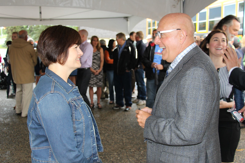 Carla Beck, MLA Regina Lakeview; Domenic Scuglia, RCSD Director of Education