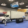 The Ford F-750 box truck displayed in ROUSH CleanTech's booth is ideal for the beverage industry.