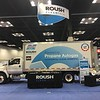 A ROUSH CleanTech Ford F-650 upfitted by Mickey Truck Bodies on display at the 2018 NTEA Work Truck Show.
