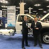During the 2019 NTEA Work Truck Show, Heavy Duty Trucking's Dave Moniz presented ROUSH CleanTech with an award recognizing the company's propane autogas engine as one of the top 20 products of the year.