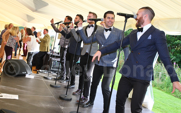 "The Overtones perform live at ""The Shoot"" Charitable Trust"