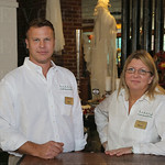 COO and Executive Designer Brad Volsted and CEO Melissa Cruz.