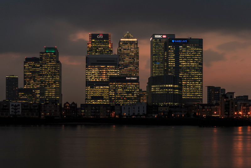 Evening Falls On Canary Wharf