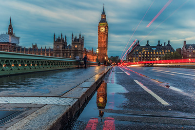 Big Ben In A Puddle.