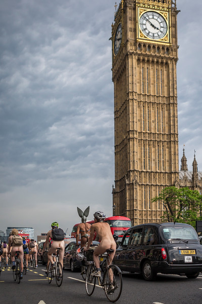 Naked Biking On Westminster.