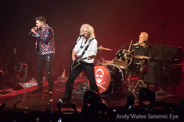 Brian May, Roger Taylor and Adam Lambert, Queen