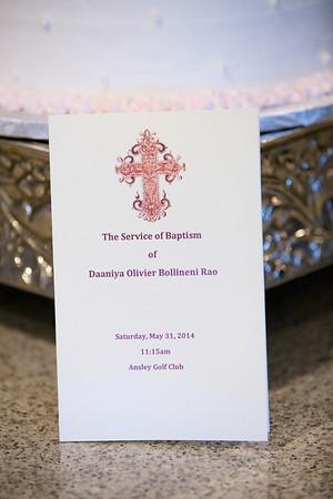 Baptism of Daaniya Rao