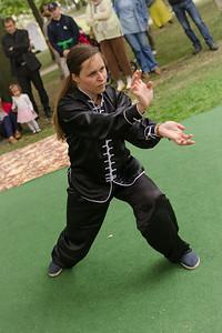 Žena kungfu na Čajomírfest 2014