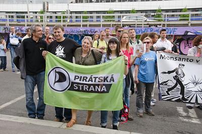 Pochod proti Monsanto Praha 2014