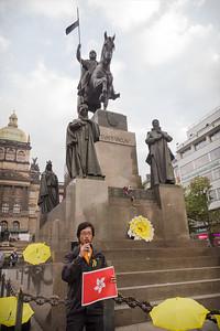 Demonstrace Přineste deštníky na podporu Hongkongské demokracie