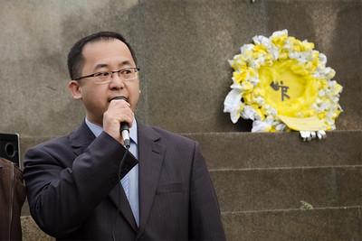 Demonstrace Přineste deštníky na podporu Hongkongské demokracie vězeň svědomí Kuo Ťü-feng
