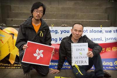 Demonstrace Přineste deštníky na podporu Hongkongské demokra