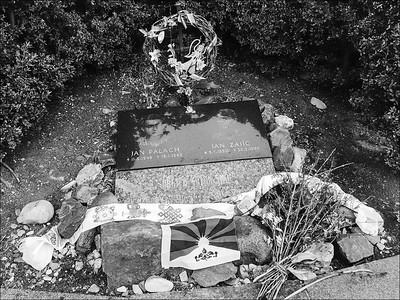 Tibetan symbols by Palach and Zajíc memorial