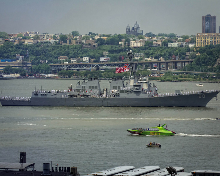 Boats arriving for Fleet Week 2012, as part of OpSail.