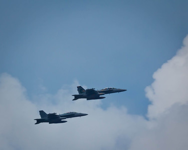 Blue Angles fly over the Hudson River as part of Fleet Week 2012 in New York City.