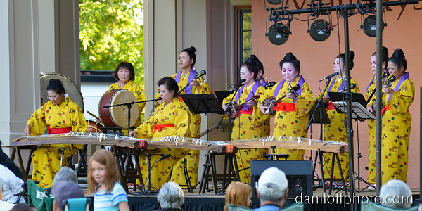 Kenshin Taiko performing as part of the Mondays in the Park Concert Series at Liberty Park.