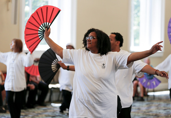Pam Brashear performs with the Nu Chapter Tai Chi Chuan & Qi Gong Health Institute.