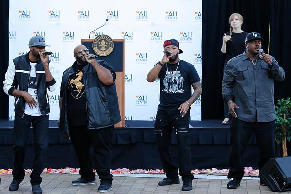 Linkin' Bridge performs at Muhammad Ali's celebration of life.